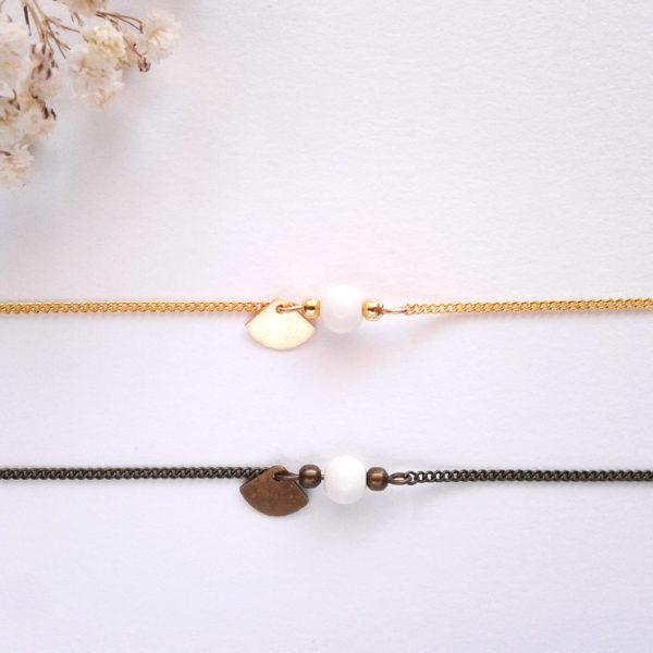 Bracelet mini éventail doré - fin et délicat