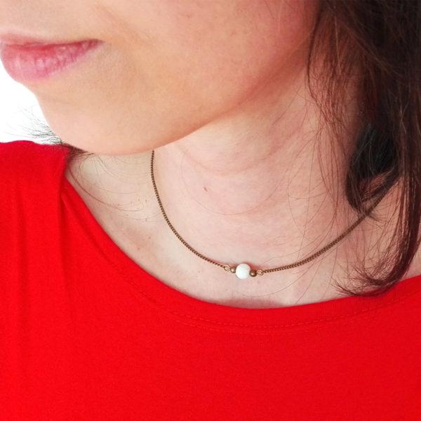 Collier de dos mini éventail - bijou japonisant