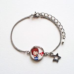 Bracelet illustré Marine bisous