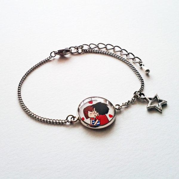 Bracelet Marine avec son amoureux.