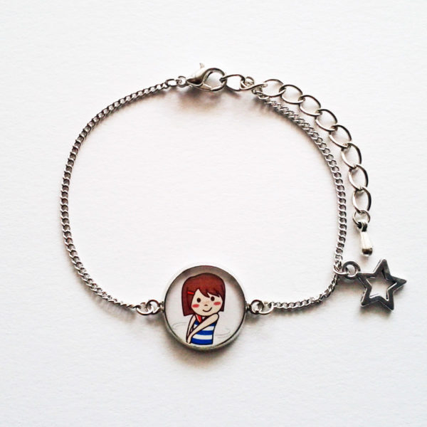 Bracelet illustré Marine charmeuse