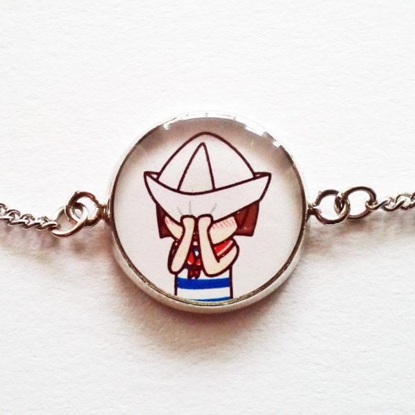 Bracelet illustré Marine timide.