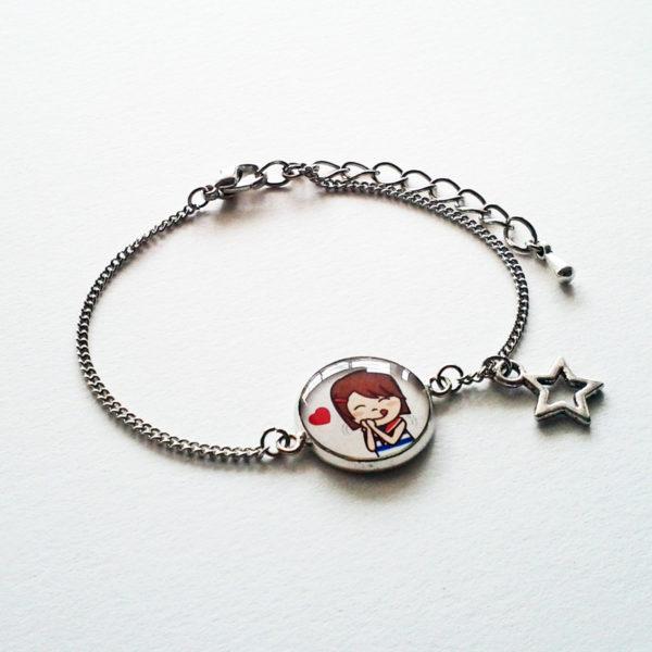 Bracelet illustré Marine gourmande