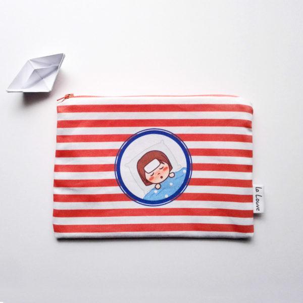 Trousse de premiers soins Marine malade - sergé de coton doublé de coton enduit
