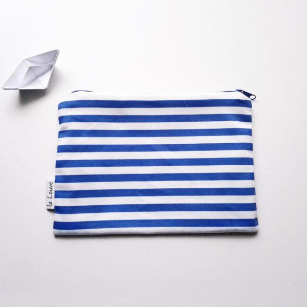 Trousse de toilette Marine prend son bain doublé en coton enduit