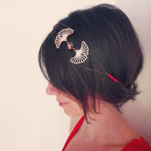 Headband feuilles de ginkgo bohème inspiré du Japon