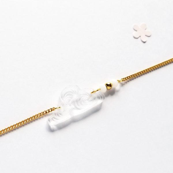 Bracelet nuage japonais transparent
