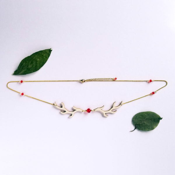 Headband / collier bois de cerf