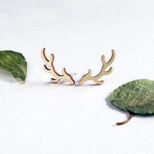 Puces d'oreilles bois de cerf